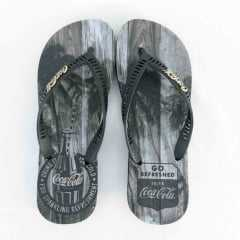 Chinelo Coca-Cola CC2639 Tropic Wood Preto
