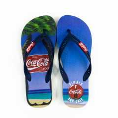 Chinelo Coca-Cola CC2767 Always Summer Azul